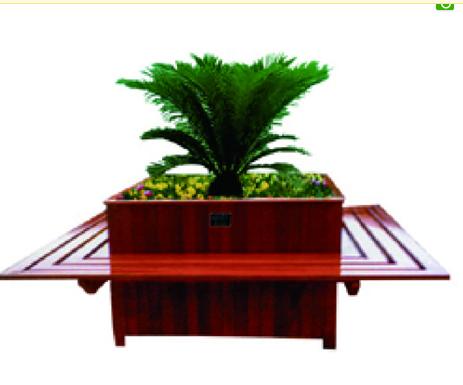 木制花盆平凳组合