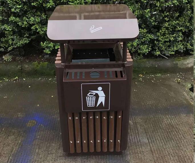 钢木垃圾箱JM-gm08