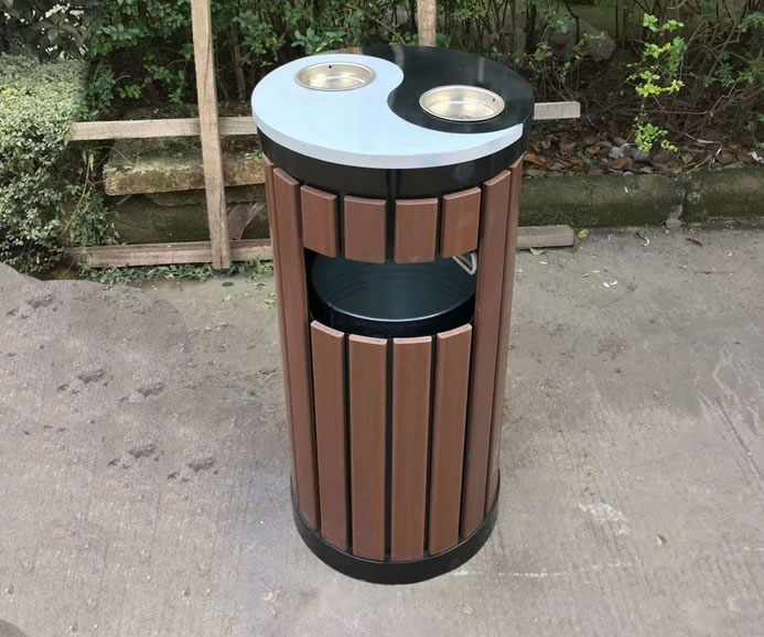 钢木垃圾箱JM-gm02